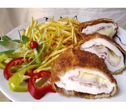 Csirke cordon bleu hasábburgonyával