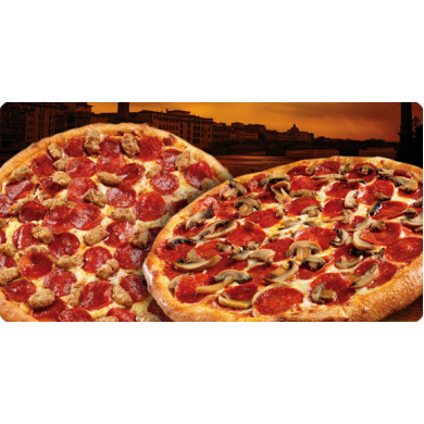 Texas Pizza 2 db 26 cm-es